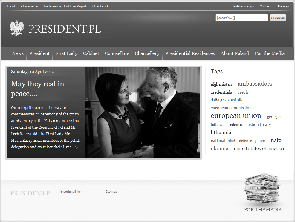 Link to www.PRESIDENT.pl - new window opens